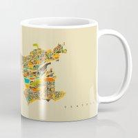 seattle Mugs featuring Seattle by Nicksman