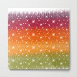 Rainbow Sparkles Paint Trails #2 Metal Print