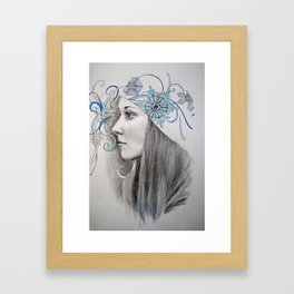 Miss Winter Framed Art Print