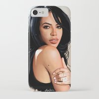 aaliyah iPhone & iPod Cases featuring Aaliyah #2 by Aaron Jason