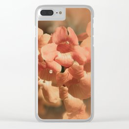 Softly Peach Clear iPhone Case