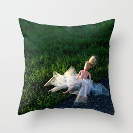 the first time Throw Pillow