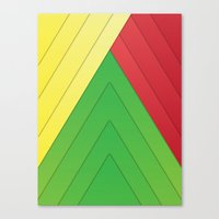 rasta Canvas Prints featuring Rasta Triangles by Arlo @ Creative Konzepts