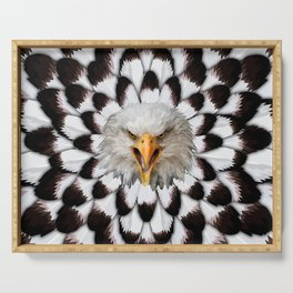 Eagle and feather Pattern Serving Tray