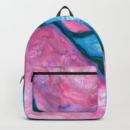 Divided - Asbtract Purple Watercolor Backpack