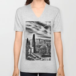View of Firenze Duomo Unisex V-Neck