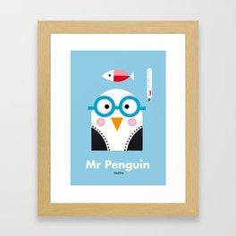 Mr. Penguin Framed Art Print