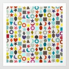 geo garland Art Print