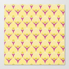 Yellow Art Deco Pattern Canvas Print