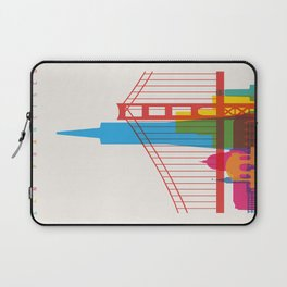 Shapes of San Francisco. Accurate to scale Laptop Sleeve