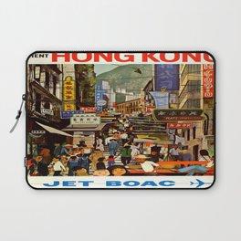 Vintage poster - Hong Kong Laptop Sleeve