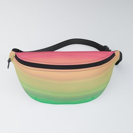 Tropical stripes Summer pattern Fanny Pack