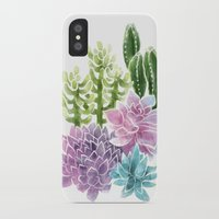 succulents iPhone & iPod Cases featuring Succulents by Megan Alcock