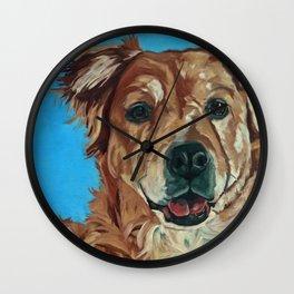 Cody the Golden Labrador Mix Dog Portrait Wall Clock