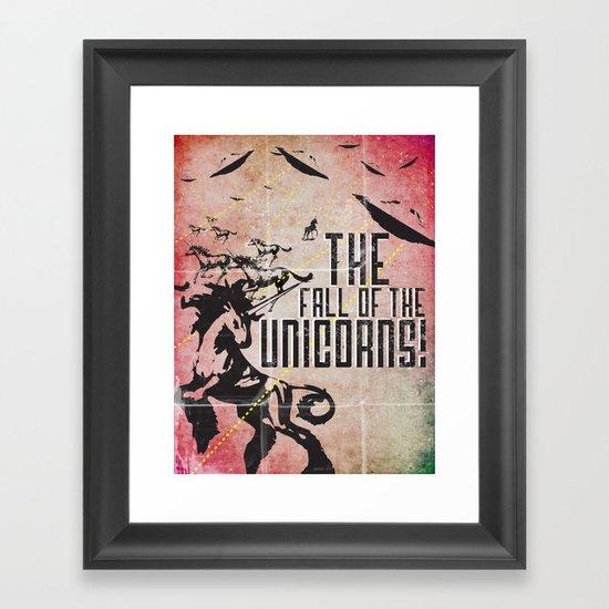 The End of the Unicorns Framed Art Print
