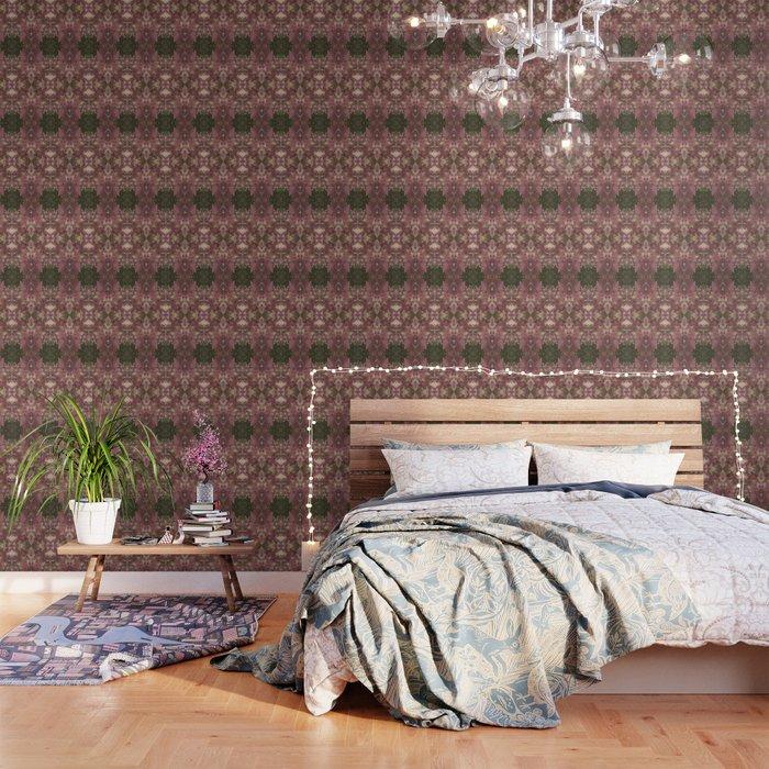 Red Shiso Warm Tones Pattern Wallpaper