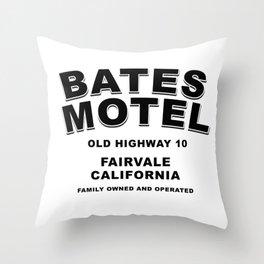 Psycho inspired Bates Motel logo Throw Pillow