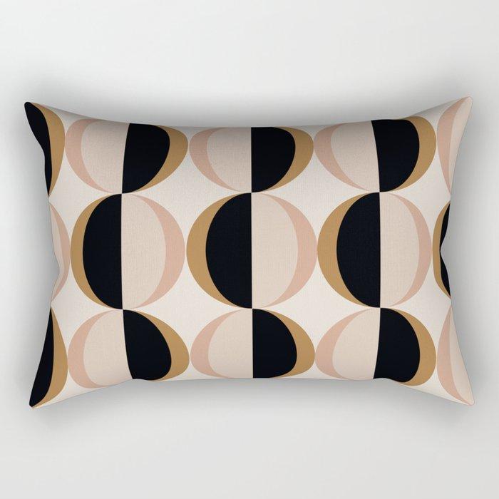 Mod Circle Pattern V Rectangular Pillow