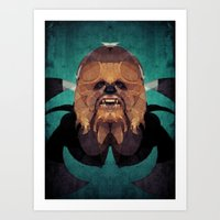 chewbacca Art Prints featuring Chewbacca by lazylaves