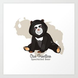 Oso Frontino/Spectacled Bear Art Print