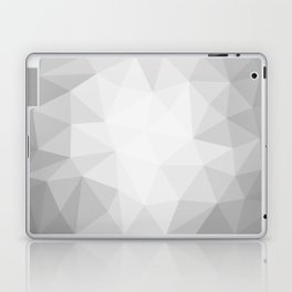 low polygon gray background Laptop & iPad Skin