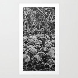 Bone Pile Art Print