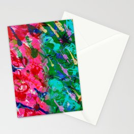 PINK GREEN RAIN Stationery Cards
