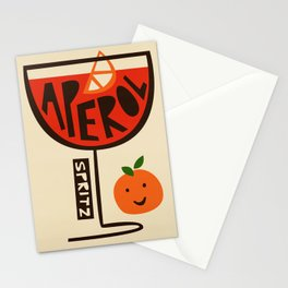 Aperol Spritz Cocktail Print Stationery Cards