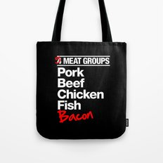5 Major Meat Groups Tote Bag