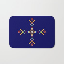 Sport Of Cricket Design version 3 Bath Mat