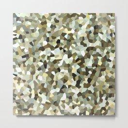 Yellow Mosaic Pattern Metal Print