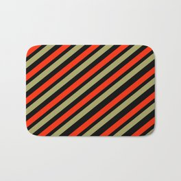 TEAM COLORS 1…red,gold black Bath Mat