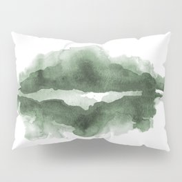 Mountain Reflections on a Lake in Spring Pillow Sham