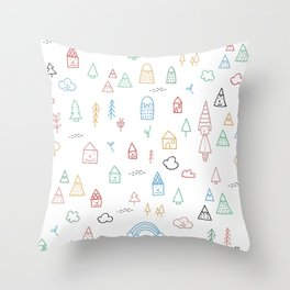LOVELY NATURE Throw Pillow