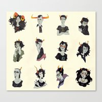 homestuck Canvas Prints featuring Horostuck by Naïs Quin
