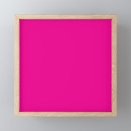 Simply Magenta Pink Framed Mini Art Print