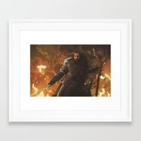 thorin Framed Art Prints featuring Thorin by PrintsofErebor