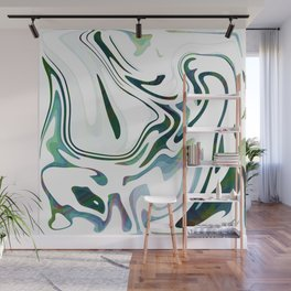 Greed Liquid Marbled Waves Design Wall Mural