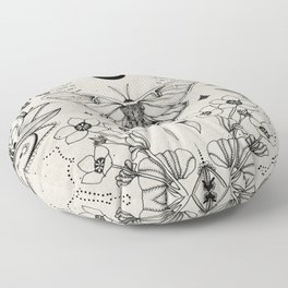 Bohemian Luna Moth Floor Pillow