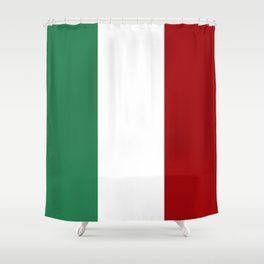 Italian Flag Shower Curtain