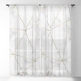 Marble Gold Sheer Curtain