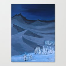 Late night on the mountain  Canvas Print