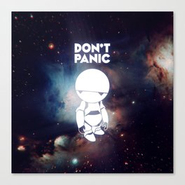 Don't Panic Marvin Canvas Print