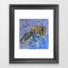 Honey Bee Print Framed Art Print