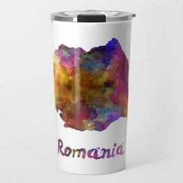 Romania in watercolor Travel Mug