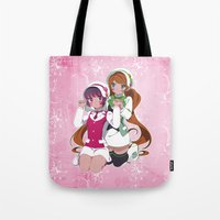 yaoi Tote Bags featuring Lulu X Ginko by Neo Crystal Tokyo