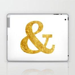 Gold Ampersand Laptop & iPad Skin