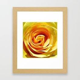 Deep  Canary Framed Art Print