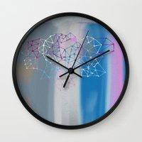 transparent Wall Clocks featuring transparent cloud by Bunny Noir