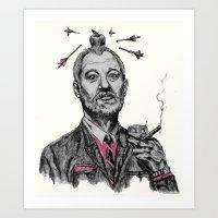 Bill Murray Being His Cool Self Art Print